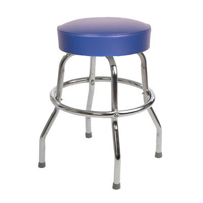 Richardson Seating 1950s Floridian Swivel Stool, Blue, 24 by Richardson Seating