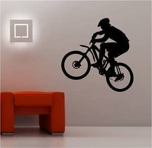 Online Design Enorme Bicicleta de Montaña Pared Pegatina Vinilo ...