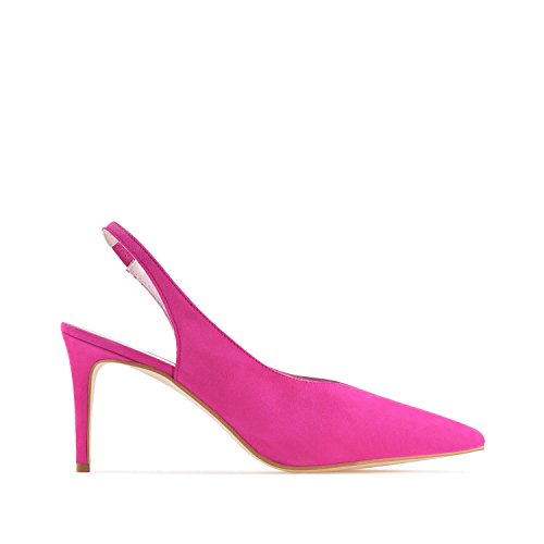 Machado Suede Stilettos Large in Leather Petite Sizes Andres Made Suede amp; Leather Slingback Spain Paula Fuchsia dwdqpH