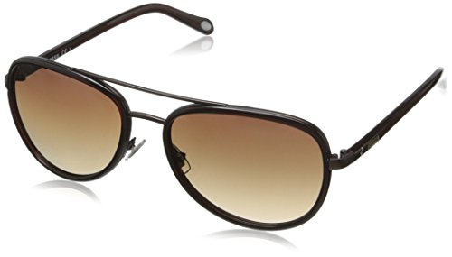 Fossil FOS2009S Aviator Sunglasses,Satin Brown,59 - Fossil Aviator Sunglasses Womens