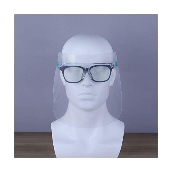 Protector Facial de Seguridad Reutilizable con Gafas de Visera, Capa Transparente antivaho para Proteger los Ojos de Las Salpicaduras para Mujeres, Hombres, niños y niños (10 Unidades) 14