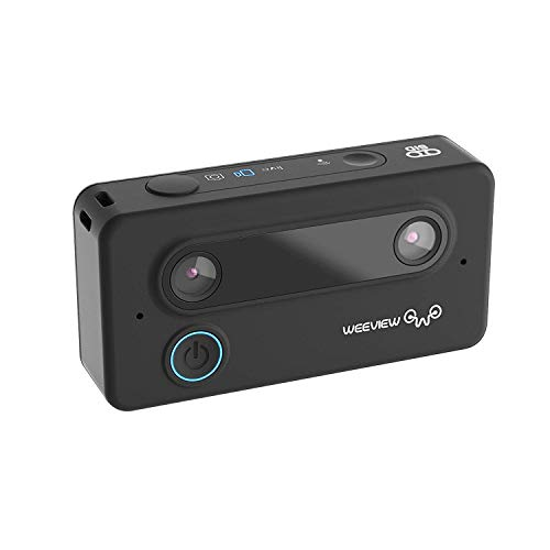 SID 3D Camera by Weeview - Mini HD 3K Wi-Fi Video Camera for Android and iOS Devices, VR-Ready Photo Camera