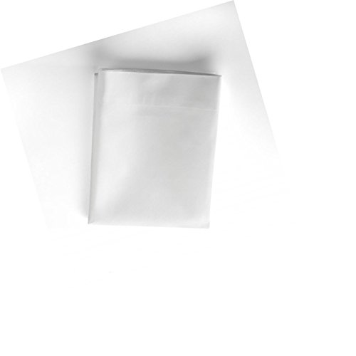 Twin Size Flat Sheets, T-180, white, 2-Pack