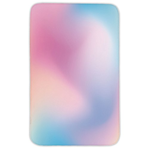 Rectangular Area Rug Mat Rug,Pastel,Abstract Blurry Colors Composition Sweet Daydream Fantasy Miscellaneous Decorative,Pink Aqua Peach White,Home Decor Mat with Non Slip Backing