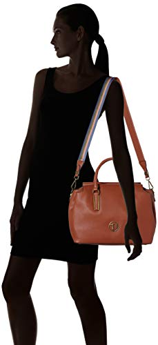 L Secchiello 75b00427 Trussardi x H x 9y099999 Borsa Leather Donna a Marrone 32x21x14 W cm Jeans qXRFOwRTga