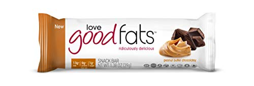 Love Good Fats, Snack Bars Peanut Butter Chocolatey, 1.38 Ounce, 12 Count