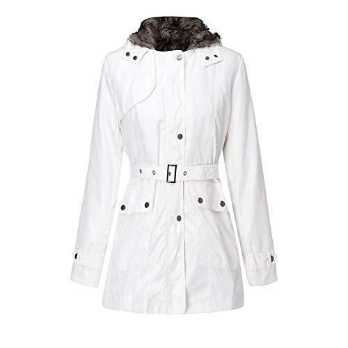 Trench Coat,Women Hooded Sweater Coat Winter Warm Wool Zipper Coat Cotton Coat Outwear Girl rain Coats for Women ()
