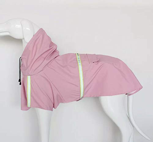 - Boomer888 Big Dog Puppy Rain Jacket Pink Raincoat Puppy Clothes Polyester Waterproof Extra Large Size Neck 14.2 inch