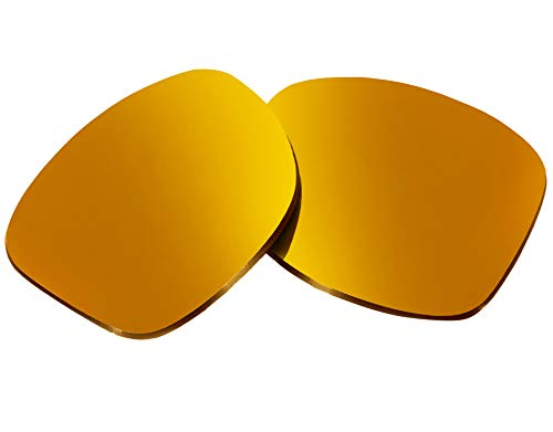 Replacement Lenses Compatible with OAKLEY Holbrook Non-Polarized 24K Gold Mirror