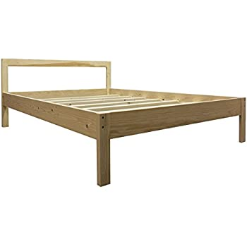 twin xl platform bed frame uno all natural solid hardwood - Twin Xl Bed Frame Wood