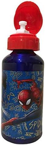 Spiderman borraccia in alluminio a prova di perdite senza BPA 450 ml per scuola e sport