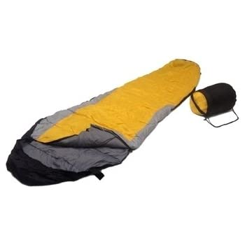 Sleeping BAG Mummy Type 8' Foot 20+ Degrees ORANGE Gray Black - Carrying Bag NEW