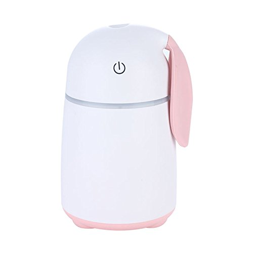 Price comparison product image Cute Rabbit Humidifiers Waterless Auto Shut-off Portable USB One-touch Vehicular Humidifier Small household Purifier Ultrasonic Nebulizer For Baby Kids Ladies Bedroom Home Office