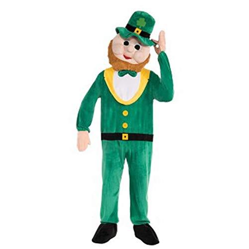 Forum Novelties Men's Plush Leprechaun Mascot Costume, Green, One -