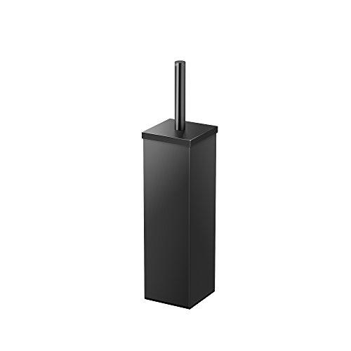 Gatco 1488MX Elegant Square Toilet Brush Holder, Matte Black