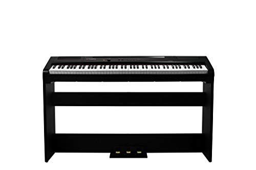 Artesia Harmony 88 Weighted Key Digital Piano - (Black) with with Matching Furniture Stand and Three Pedal Board