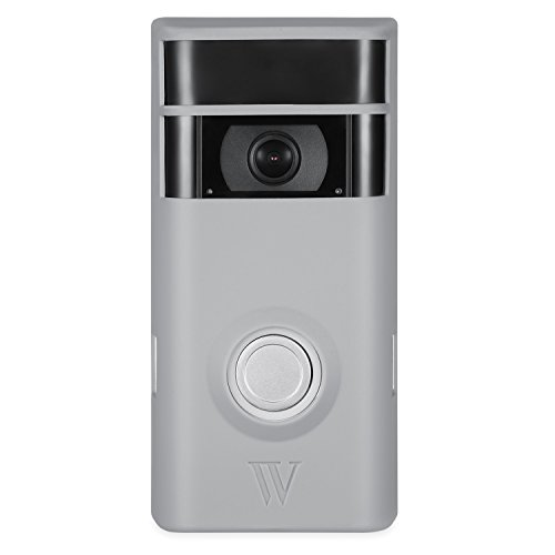 Wasserstein Colorful & Protective Silicone Skins for Ring Video Doorbell 2 - Protect and Camouflage your Ring Video Doorbell 2 with these UV light- and weather-resistant silicone skins (Grey)