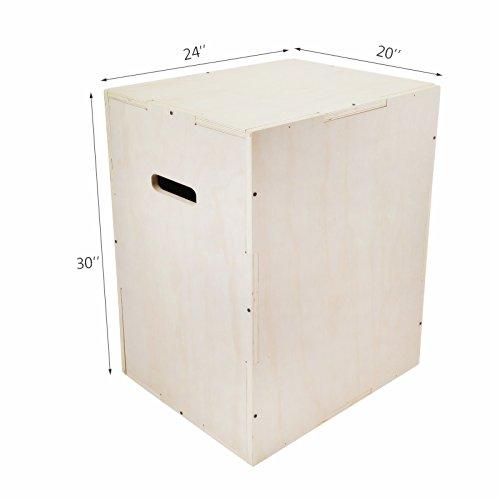 Popsport Wood Plyo Box 30X20X24 Inch Plyometric Box Jump 330LBS Wood Plyometric Jump Box with Internal Cross Bracing for Crossfit Training and Plyometric Agility (30″X20″X24″) For Sale