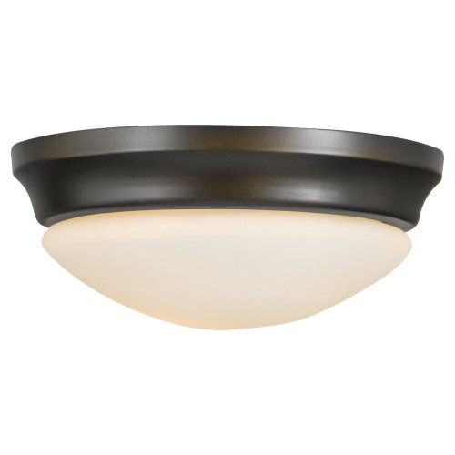 (Feiss FM271ORB Barrington Glass Flush Mount Ceiling Lighting, Bronze, 1-Light (10