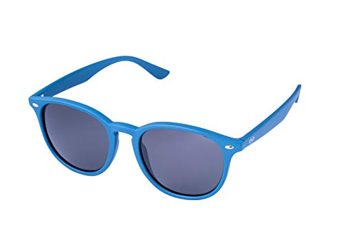 (13Fifty VEGAS Retro Unisex Round Sunglasses ::Matte Blue, Smoked Polarized)