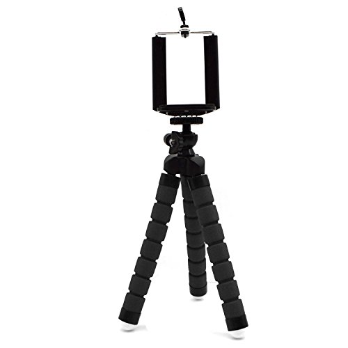 Flexible Leg (TekkPerry Mini Tripod Stand with Flexible Legs Universal Octopus Mount for Smart Phone, Camera, DV,Projector (black))