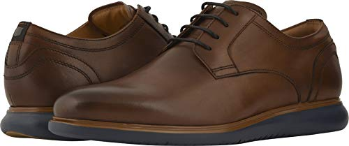 Florsheim Men's Fuel Plain Toe Oxford Cognac/Navy Sole 10 M US