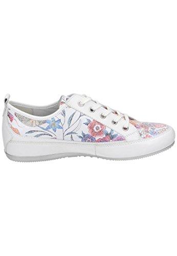 Mujer De Tonia Piel Blanco Para Cordones Zapatos Semler ETYgxwq6T
