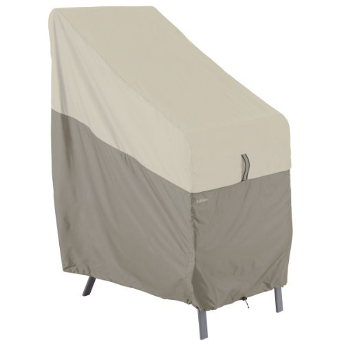 Classic Accessories Belltown Outdoor Stackable Patio Chair Cover – Weather and Water Resistant Patio Set Cover, Grey (55-265-011001-00)