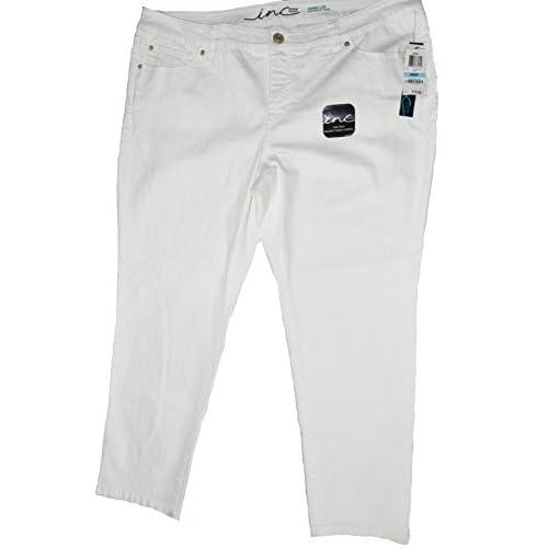 0a888b6d9 cheap INC INTERNATIONAL CONCEPTS SLIM TECH SKINNY LEG WHITE JEAN 20WP