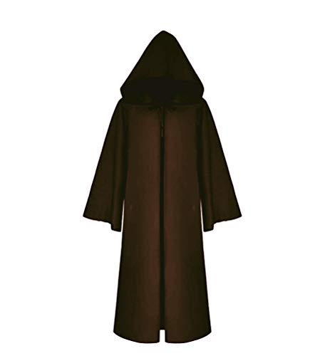 Priest With Kid Costume (Cos2be Medieval Priest Monk Robe-Hooded Cap Cloak (Child Small, Coffee)