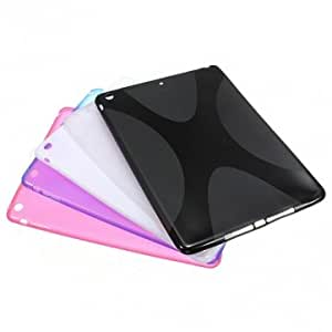 X Line Soft TPU Gel Silicone Rubber Back Case For iPad Air --- Color:Blue