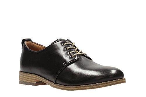 Clarks Trabajo Mujer Zapatos Zyris Toledo En Piel Negro