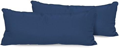 TK Classics Set of 2 Outdoor Rectangle Throw Pillows, Navy