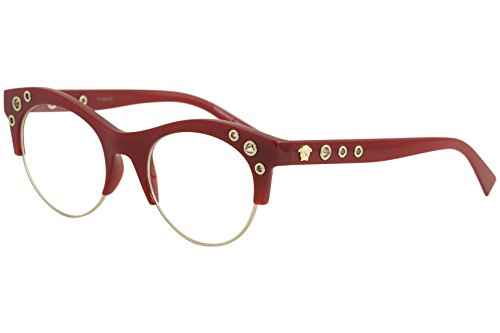 Versace VE3232 Eyeglass Frames 5197-52 - 52mm Lens Diameter Bordeaux - Glasses Purple Versace