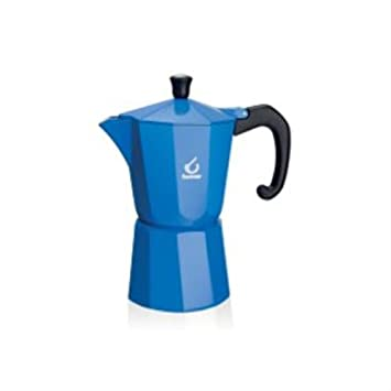 Forever KG120163 - Cafetera italiana (6 tazas), color azul: Amazon ...