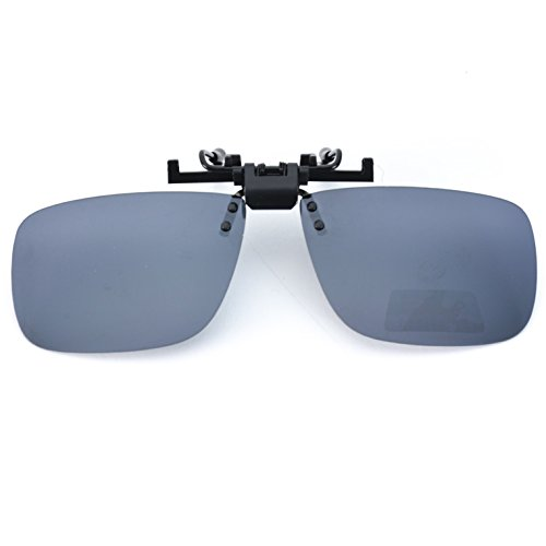 WearMe Pro - New Polarized Clip on Mirrored Lens - Prescription Glasses Clip Ons With