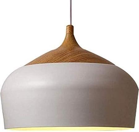 Yuzhonghua Arañas Modernas industriales, lámparas de salón Dormitorio lámpara de araña de la lámpara de Techo de la Cocina en Blanco y Negro E27 (Color : White, Size : 30CM): Amazon.es: Hogar