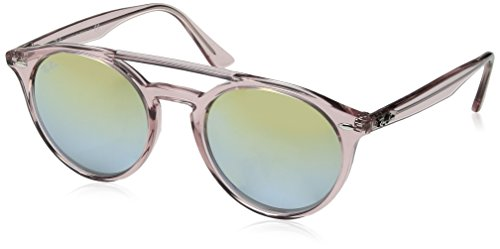 Ray-Ban Injected Unisex Non-Polarized Iridium Round Sunglasses, Pink, 51 - Clubmaster Ban Ray Pink