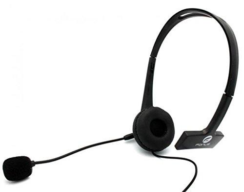 WIRED Headset MONO Handsfree Headphone 3.5mm Earphone Boom Microphone Single Earbud [Black] for Verizon Motorola Droid Turbo - Verizon Motorola Droid Turbo 2 - Verizon Motorola Droid Ultra
