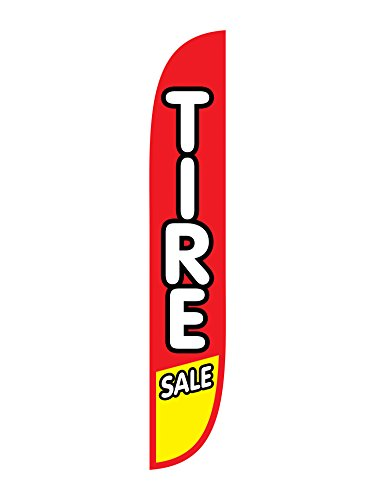 (LookOurWay Tire Sale Red/Yellow Feather Flag, 12-Feet)