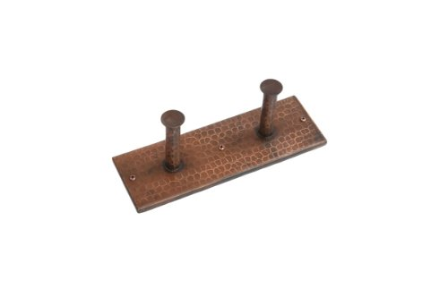 Copper Robe Hook (Double Robe Hook in Oil Rubbed Bronze Finish)