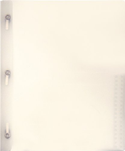 Lion 2-Pocket Plastic Folder with Fasteners, Clear, Pack of 4 (92310-CR-4P)