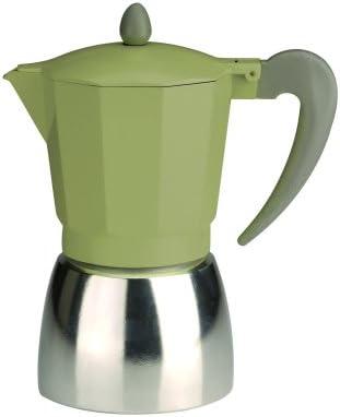 Typhoon - Cafetera italiana para 9 tazas, diseño vintage, color verde y plateado: Amazon.es: Hogar