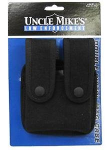 (Uncle Mike's Kodra Duty Nylon Web Single Stack Double Snap Close Pistol Mag Case,)