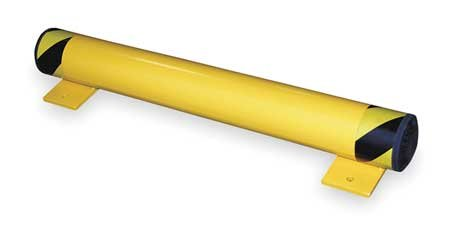 Floor Stop Bollard, 4-1/2'', Yellow by Materro