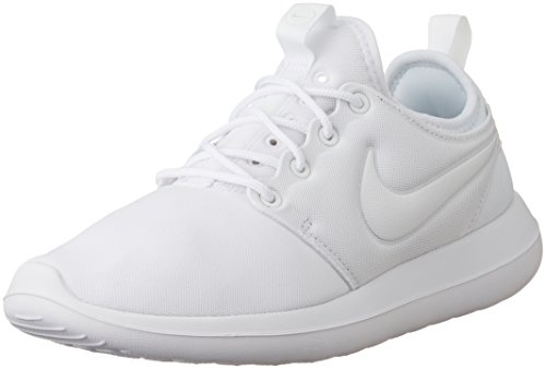 Nike Womens Roshe Due Scarpe Da Corsa Bianco / Platino Puro Bianco