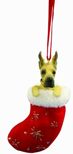 Great Dane Christmas Stocking Ornament with
