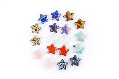 (JIC Gem Fashion Natural Stone Mixed Star Charms for DIY Jewelry Making 18 pcs/lot Wholesale)