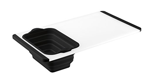 Cuisinart CTG-00-CBC Cutting Board with Colander - Black (Cutting Board With Strainer)