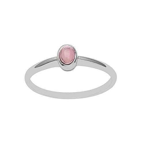 - Shine Jewel Bezel Set Pink Tourmaline Gemstone with 925 Sterling Silver Tiny Stackable Ring (8)
